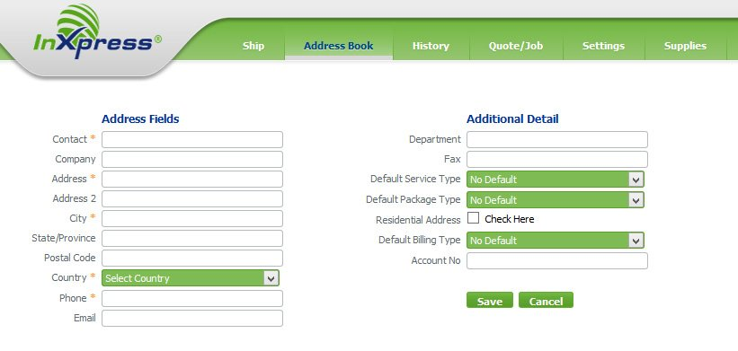 huong dan webship inxpress address book